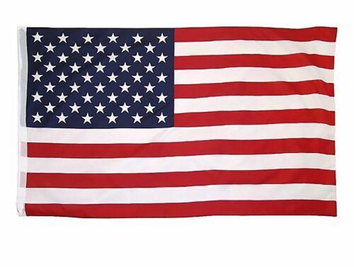 "USA Patriot AMERICAN NYLON STARS FLAG Sleeve Pole Pocket 35/""X58/"" Indoor Outdoor"