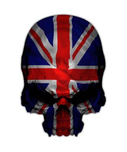 Great Britain British Triumph Sticker Graphic Union Jack Skull Decal
