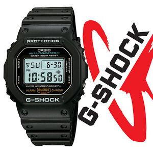b6b606e9b960 Casio DW5600E-1V G-SHOCK Mens Black Classic Digital Shock Resistant ...