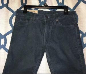Hollister Para Hombre Skinny 5 Pocket Azul Pantalones De Pana 29 X 30 Usado En Excelente Condicion Ebay