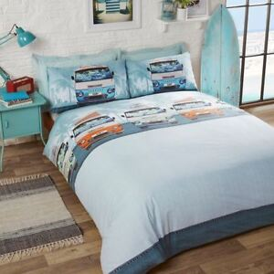 Copripiumino Dream Fun.Details About Campervan Retro Double Duvet Cover Set Bedding Kids Adults