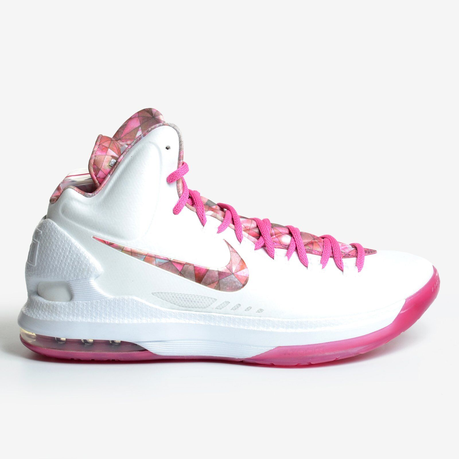 Nike KD 5 Aunt Pearl 2012 Summit White Pinkfire V Basketball Pink DS 598601-100