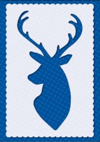 Flexible Stencil *STAG HEAD* Christmas Deer Reindeer Card Making 10cm x 14cm