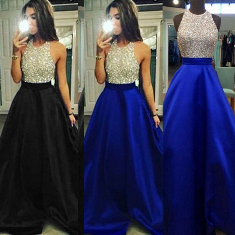 e484c25b523 Details about Sexy Women Formal Prom Long Sequin Dress Evening Party  Cocktail Long Maxi Dress