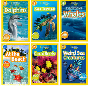 df082a86 Details about National Geographic Level Pre-Reader,2 & 3 Ocean  Animals,Dolphins+(6 Paperback)