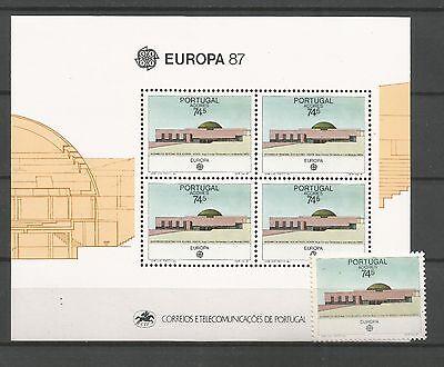 In Intellektuell Cept / Europa 1987 Azoren Block Aroma Marke ** Duftendes