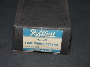 NOS Box of Rollfast fork crown screws parts 100 bicycle bike Schwinn Elgin CWC