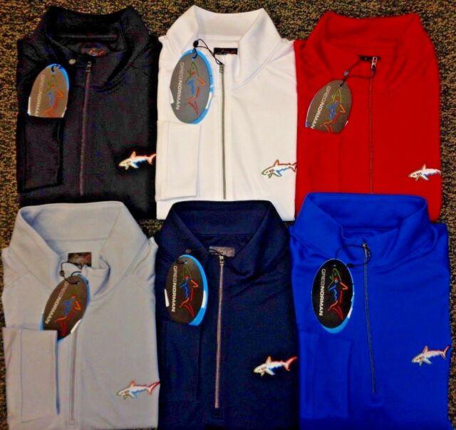 Greg Norman Mens Lux Cotton 1//4 Zip Performance Pullover Sweatshirt