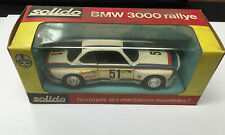 VINTAGE NEW SOLIDO FRANCE 1/43  # 25 BMW 3000 RALLYE  FRENCH DIE CAST CAR IN BOX