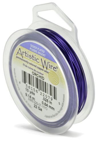 varios colores Beadalon Artístico de alambre 22 calibre 0.64 mm Plata Plateado