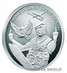 Donald Trump 1 Oz 999 Silver Shield Quot Make Merica Great