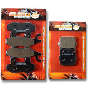 Yamaha front rear brake pads yfz 450 only 2004 2005 s t for 2007 yamaha yfz450 parts