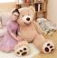MorisMos Giant Teddy Bear with Big Footprints Plush Stuffed Animals Brown New US