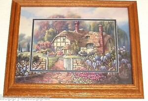 Carl-Valente-Wisteria-Summer-Print-Double-Matted-Oak-Frame-Glass-Picture-19-034-L