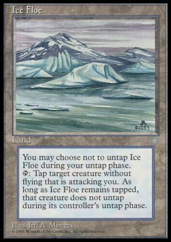 MTG 4x ICE FLOE Ice Age *Land Control Creature*