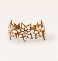 Ann Taylor Loft Gold Spiky Crystal-studded Star Fabric Backed Bracelet $39