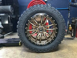 Fuel Wheels 20x9 >> Details About 20x9 Fuel D681 Rebel Bronze 32 Mt Wheels Rims Tires 6x135 Ford F150 Expedition