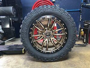 Fuel Wheels 20x9 >> Details About 20x9 Fuel D681 Rebel Bronze 32 Mt Wheels Rims Tires 6x5 5 Chevy Tahoe Suburban