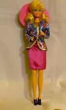 BARIBE DOLL DRESS IN ORIGINAL SUIT PINK & BLUE PICTURE HAT WITH FLOWER