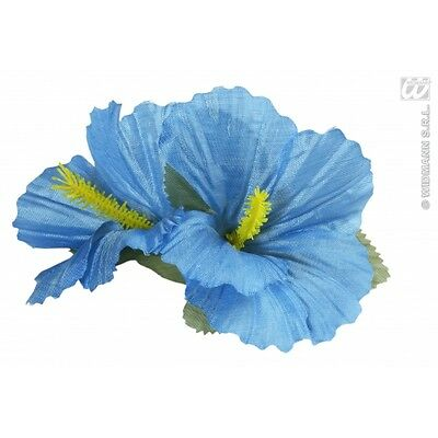 2 X Luce Blu Ibisco Fiore Per Capelli Clip Hawaiano Hula Standard Fancy Dress- Le Materie Prime Sono Disponibili Senza Restrizioni