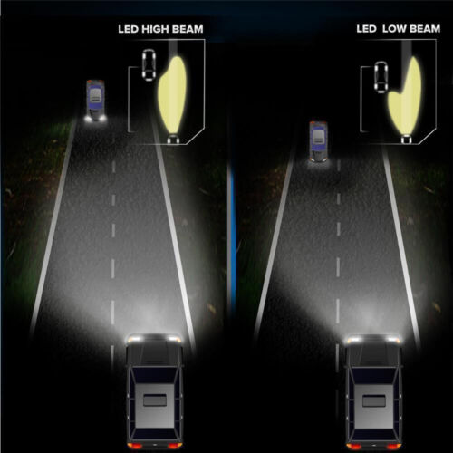 9005 H11 Total 3600W 540000LM CREE LED Headlight Kit High Low Beam Light Bulbs