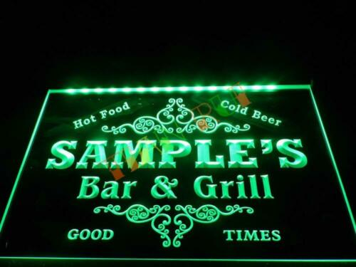 Name Personalized Custom Family Bar /& Grill Beer Home Gift Neon Sign hang sign