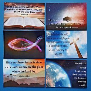 New-Glossy-Postcards-Christian-Text-Bible-Verses-Jesus-Word-of-God-Gospel