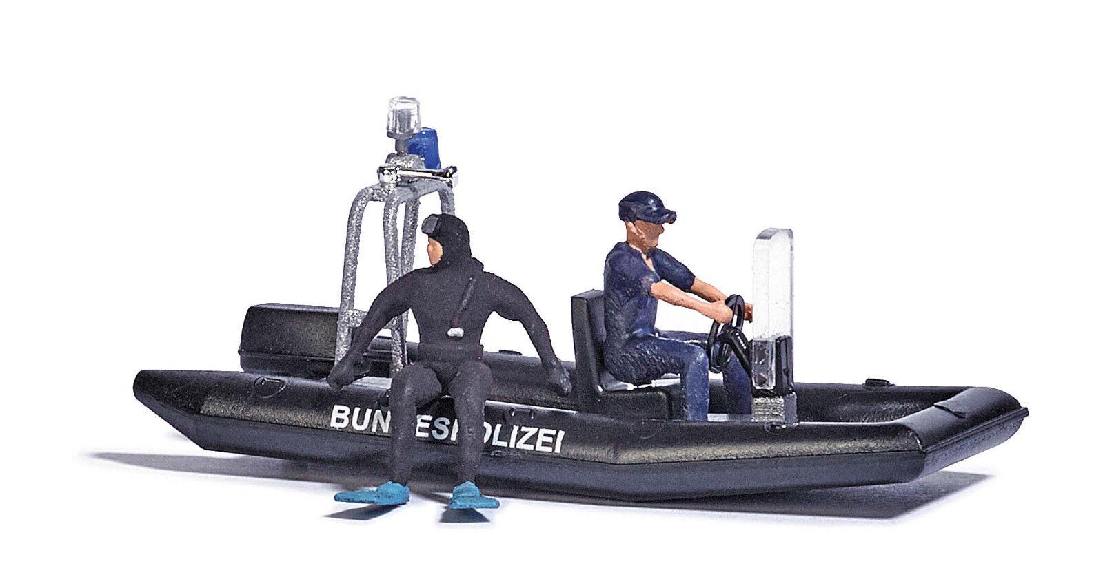 autobusch 5485 lago con barca polizia traccia traccia traccia h0 Nuovo Scatola Originale 9db4a4