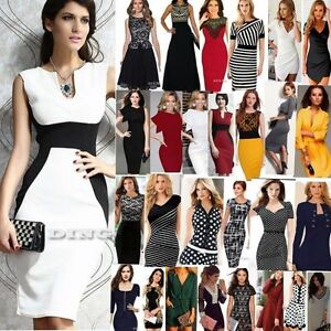 Women-039-s-Business-Career-Bodycon-Evening-Cocktail-Party-Wear-to-Work-Office-Dress