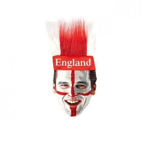 ST George Inghilterra Cerchietto con Capelli Mondiali di Calcio Costume Accessorio