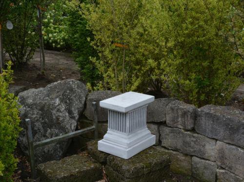 Massiver Stein Sockel rechteckig Säule Podest für Statue Steinguss frostfest