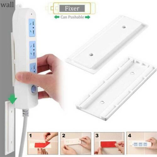 2*Magic Plug Strip Fix Sticker Holder Punchfree Seamless Power Strip Sticky Rack