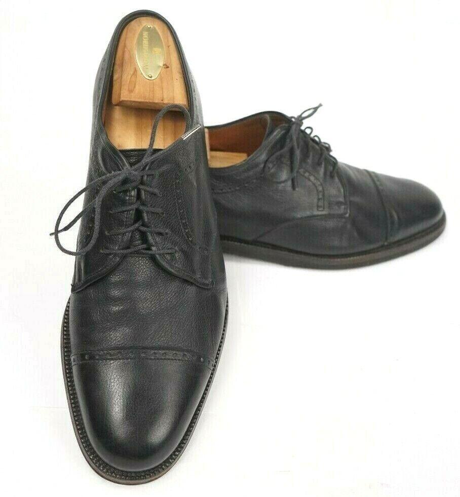 18f1da124024b Salvatore Ferragamo Mens Cap Toe 8 1 2 EE Pebble Derby Soft Vibram Soles  shoes