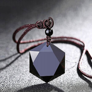 Natural-Stone-Necklace-Black-Obsidian-Pendant-Women-Men-Jewelry-Sweater-Chain