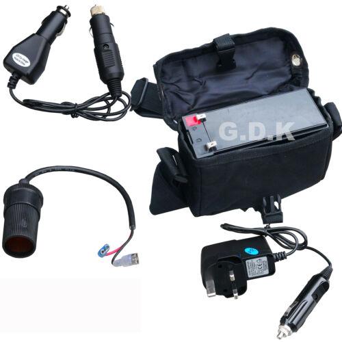 Kit Pack de batterie chargeur batterie Camp Batterie de Camping Case 12V Universel