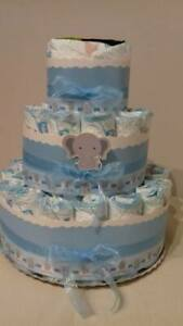 Torta di pannolini GRANDE -40pz ELEFANTINO colore  azzurro o rosa
