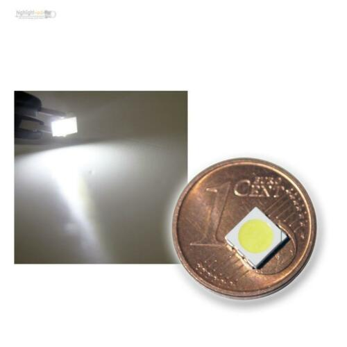 10x SMD POWER LED 5050 3-Chip WEISS - weiße SMDs LEDs white, blanch SMT, bianco