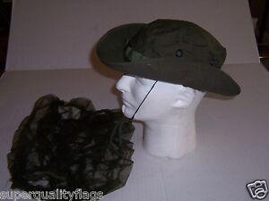 New boonie Vietnam war od green tropical combat hat cap size 7 1 4 ... 7c8b72683f23