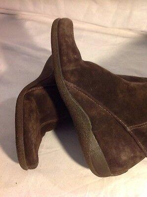 Clarks ante marrón oscuro a mitad de la pantorrilla botas talla 4.5D