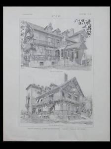 Audacieux L'architecture N°39 1900 - Cambo Les Bains, Felix Julien, Paris 66 Avenue Wagram