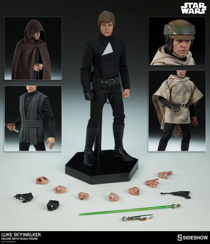 Sideshow Collectibles Star Wars LUKE SKYWALKER Deluxe Sixth Sixth Sixth Scale Figure 100190 efeeee