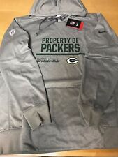 6cde2a891300 NIKE GREEN BAY PACKERS CIRCUIT PERFORMANCE HOODIE GRAY 746148-063 MENS SZ  MEDIUM