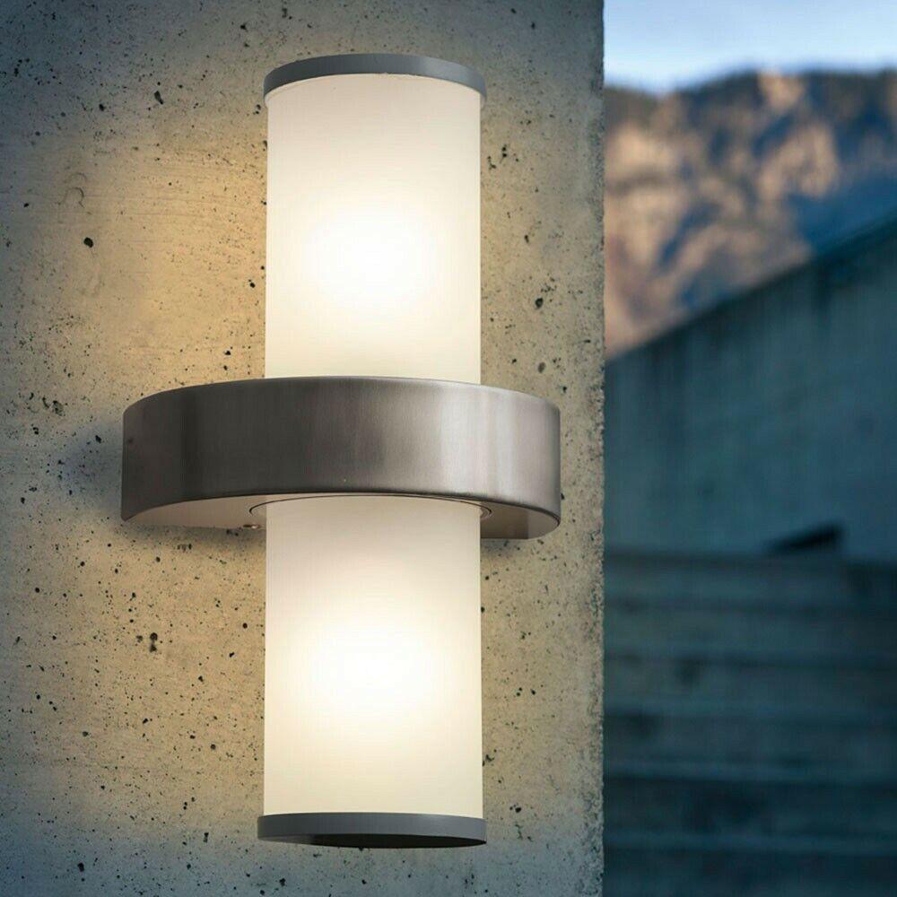 Licht-Trend Boule 2 Ampoules Applique D'Extérieur Acier Inoxydable, blanco