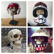 Skull Helmet Stand Motorcycle Crash Helmet Hat Rack Headphone