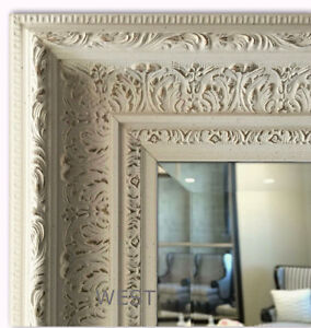 West Frames Elegance Ornate Embossed Antique White Gold