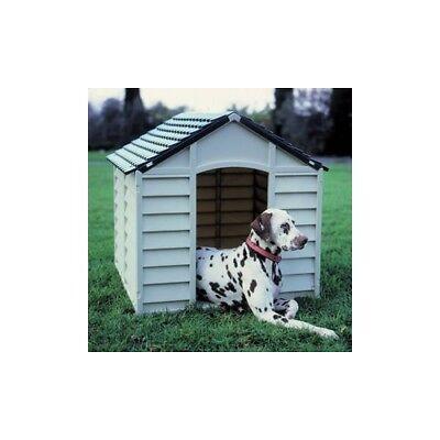 Cuccia per Cani in Plastica cm 71x71x68h Colore Grigio Chiaro / Verde Starplast