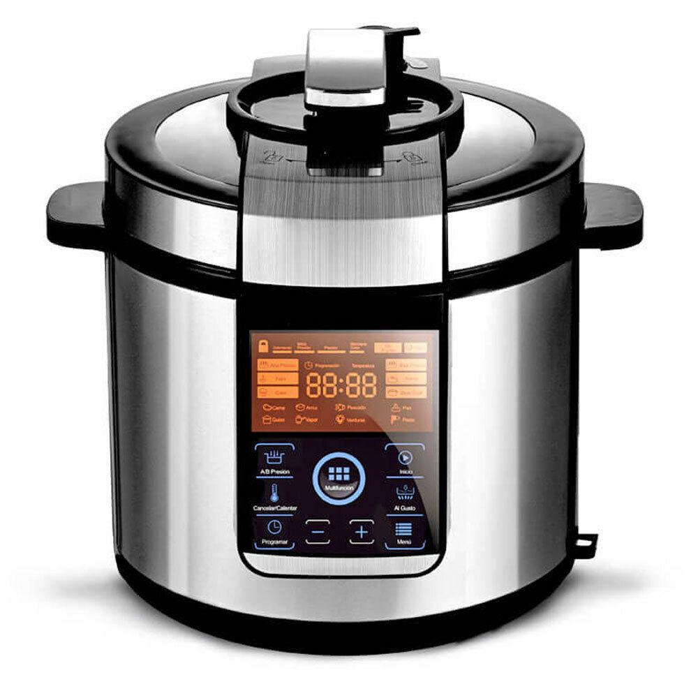 Robot de cocina Olla eléctrica 1000W Programable 24h 14 Programas 6L Gridinlux