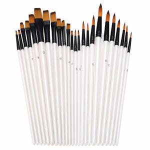 12Pcs-Artist-Nylon-Hair-Paint-Brush-Art-Watercolor-Acrylic-Oil-Painting-Supplies