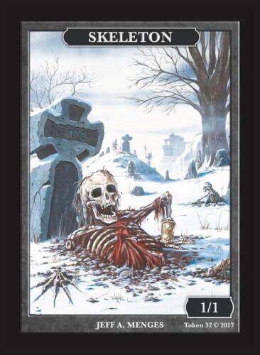 Menges MTG Magic the Gathering Skeleton Token Custom art by Magic Artist Jeff A