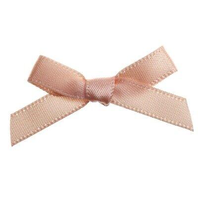 SILVER Pack of 20 7mm Ribbon Craft DIY Mini Metallic Pearl Ribbon Bows 3cm